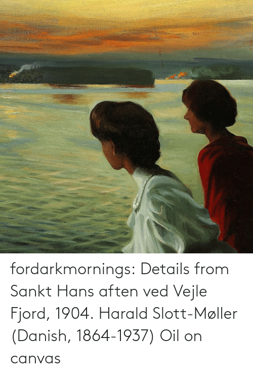 details: fordarkmornings: Details from Sankt Hans aften ved Vejle Fjord, 1904. Harald Slott-Møller (Danish, 1864-1937) Oil on canvas