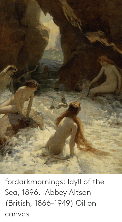sea: fordarkmornings: Idyll of the Sea, 1896.  Abbey Altson (British, 1866–1949) Oil on canvas