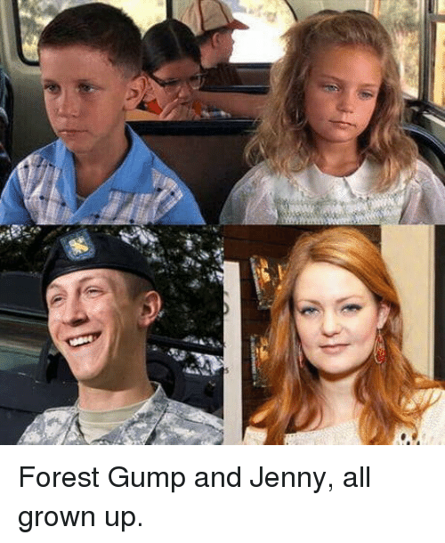 Forest, All Grown Up, and Forest Gump: Forest Gump and Jenny, all grown up.