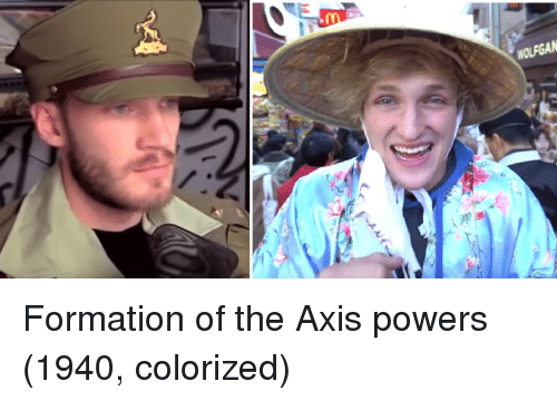 Formation: Formation of the Axis powers (1940, colorized)