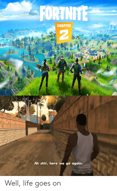 life goes on: FORTNITE  CHAPTER  Ah shit, here we go again. Well, life goes on