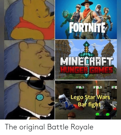 Battle Royale: FORTNITE  MINECARFT  HUNGER GRMES  dom  Lego Star Wars The original Battle Royale