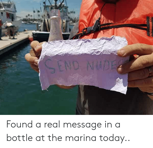 message in a bottle: Found a real message in a bottle at the marina today..