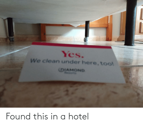 Found: Found this in a hotel