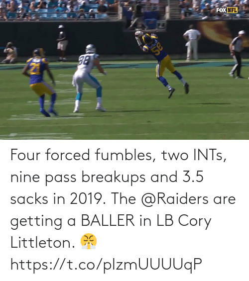 3 5: Four forced fumbles, two INTs, nine pass breakups and 3.5 sacks in 2019.  The @Raiders are getting a BALLER in LB Cory Littleton. 😤 https://t.co/pIzmUUUUqP