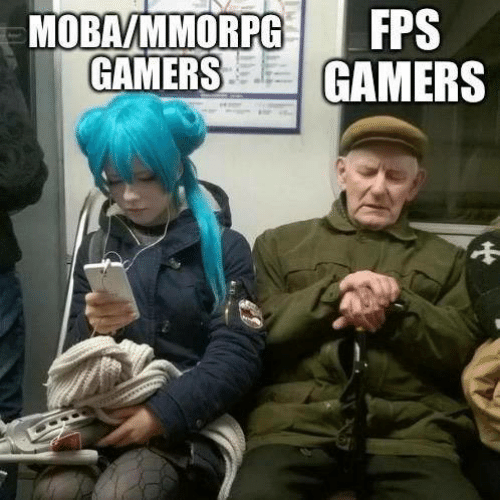 Gamers and  Fps: FPS  MOBAVMMORPG  GAMERS GAMERS
