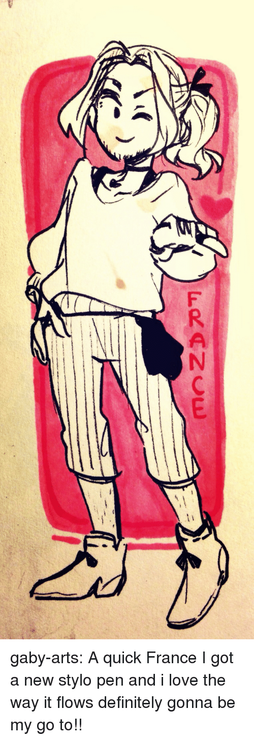 Gaby: FRANCE gaby-arts:  A quick France  I got a new stylo pen and i love the way it flows definitely gonna be my go to!!