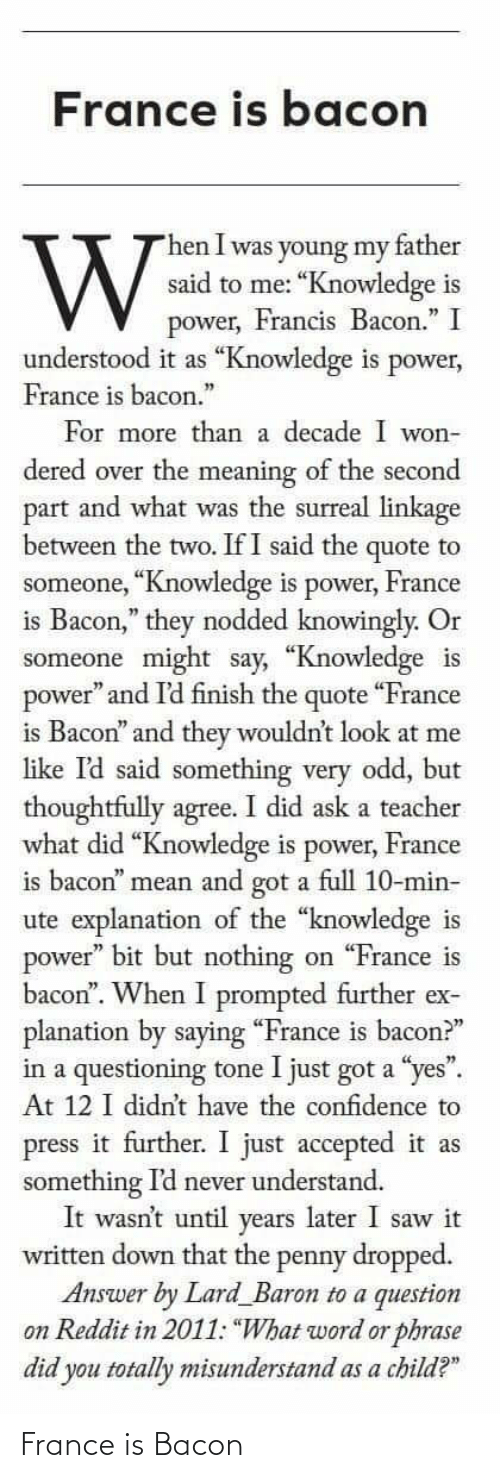 Bacon: France is Bacon