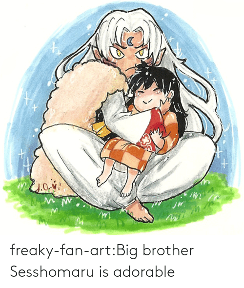 art: freaky-fan-art:Big brother Sesshomaru is adorable