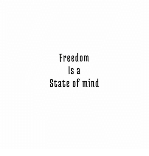 Freedom, Mind, and State: Freedom  S a  State of mind