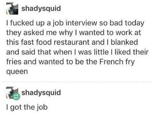 French: French Fry Queen