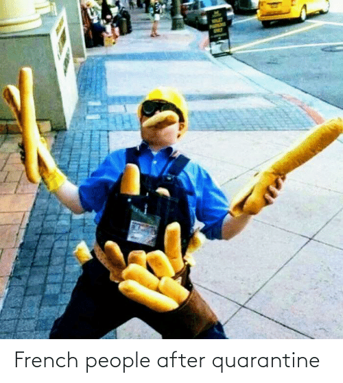 French People: French people after quarantine