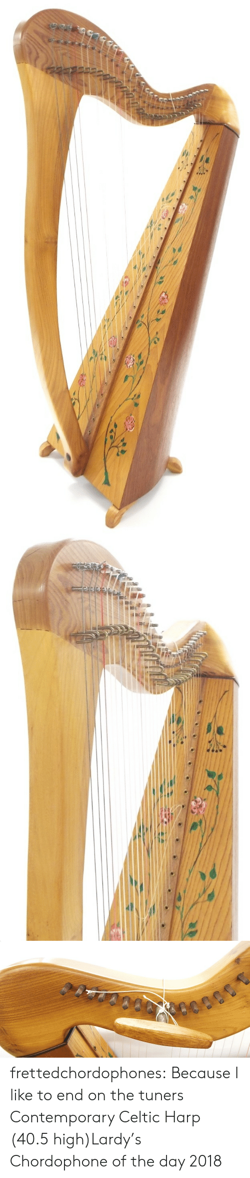 Celtic: frettedchordophones:  Because I like to end on the tuners  Contemporary Celtic Harp (40.5 high)Lardy's Chordophone of the day 2018