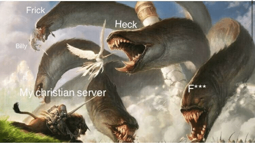 Fric Heck Billy Christian Server | Server Meme on awwmemes com