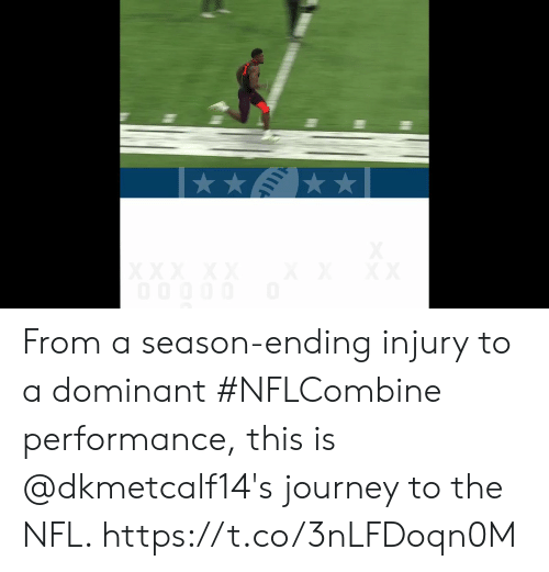 Journey, Memes, and Nfl: From a season-ending injury to a dominant #NFLCombine performance, this is @dkmetcalf14's journey to the NFL. https://t.co/3nLFDoqn0M