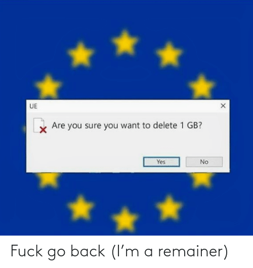 Go Back: Fuck go back (I'm a remainer)