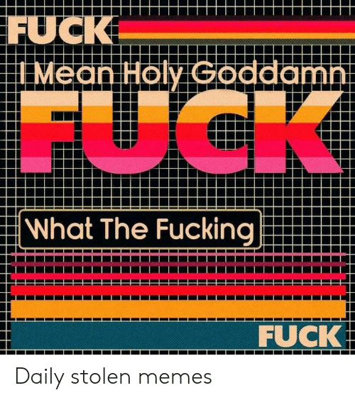 Fucking, Memes, and Fuck: FUCK  I Mean Holy Goddamni  FUCK  What The Fucking  FUCK Daily stolen memes
