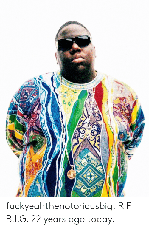 Tumblr, Blog, and Http: fuckyeahthenotoriousbig:  RIP B.I.G. 22 years ago today.
