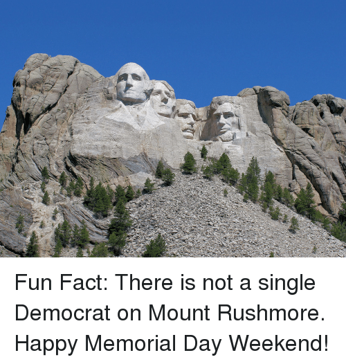 Happy, Memorial Day, and Mount Rushmore