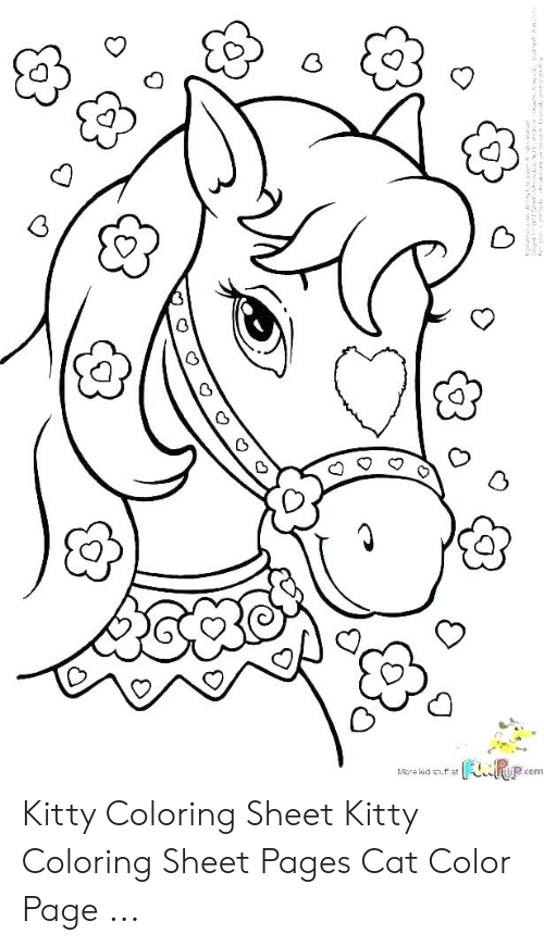 funpop c mcre kid suff at kitty coloring sheet kitty coloring