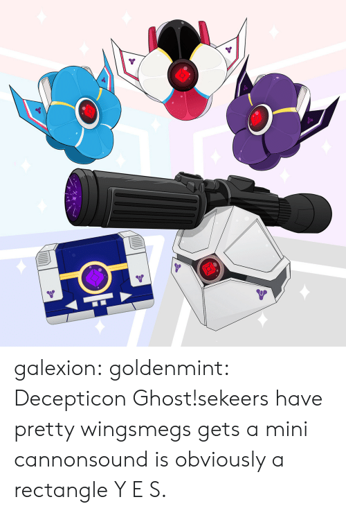 Tumblr, Blog, and Ghost: galexion:  goldenmint:  Decepticon Ghost!sekeers have pretty wingsmegs gets a mini cannonsound is obviously a rectangle  Y E S.