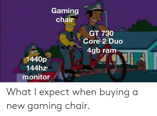 Excellent Gaming Chair Gt 730 Core 2 Duo 4Gb Ram 1440P 144Hz Monitor Onthecornerstone Fun Painted Chair Ideas Images Onthecornerstoneorg