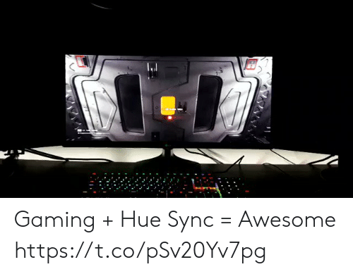 Awesome, Gaming, and Hue: Gaming + Hue Sync = Awesome https://t.co/pSv20Yv7pg