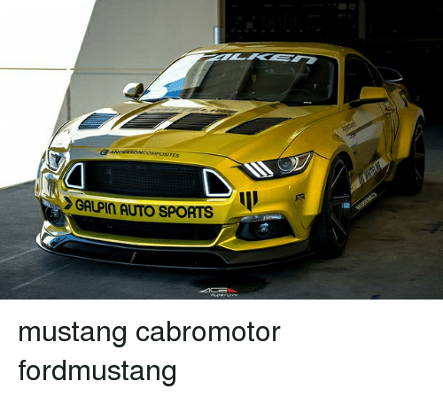 Sportsing: GANDERSONCOPOSITES  GALPIN AUTO SPORTS mustang cabromotor fordmustang