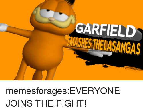 Target, Tumblr, and Blog: GARFIELD  SMASHES THELASANGAS memesforages:EVERYONE JOINS THE FIGHT!