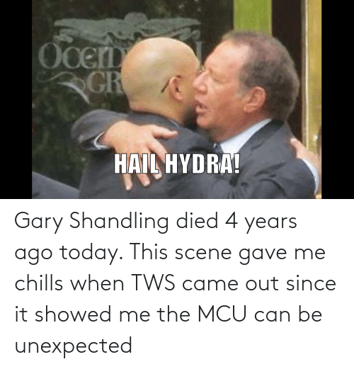 chills: Gary Shandling died 4 years ago today. This scene gave me chills when TWS came out since it showed me the MCU can be unexpected