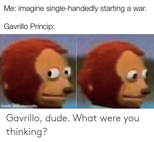 Dude What: Gavrillo, dude. What were you thinking?