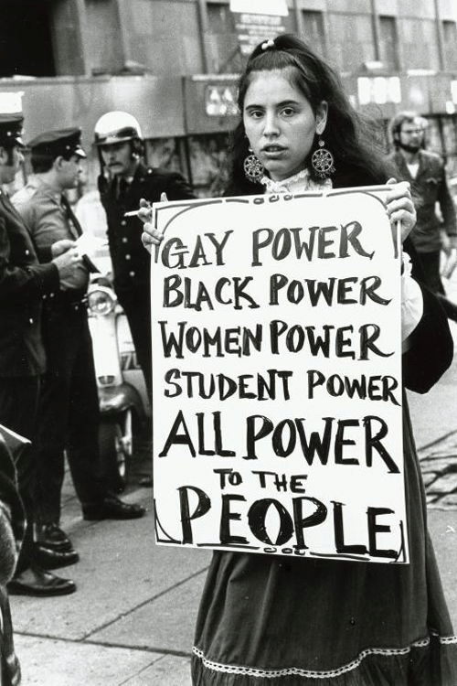 Power, Women, and Gay: GAY PONE  BIACK PoWER  WOMEN POWER  STUDENT POWER  AL POWER  TO THE  EOPLE