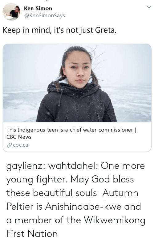 One More: gaylienz: wahtdahel:   One more young fighter. May God bless these beautiful souls    Autumn Peltier is Anishinaabe-kwe and a member of the Wikwemikong First Nation