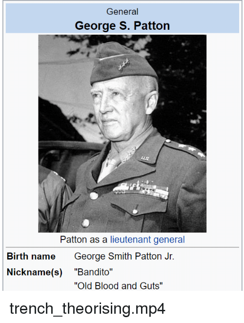 General George S Patton Paion As A Lieutenant General George Smith