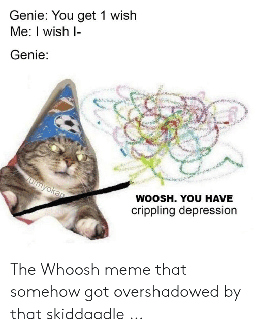 Genie You Get 1 Wish Me I Wish Genie Woosh You Have Crippling