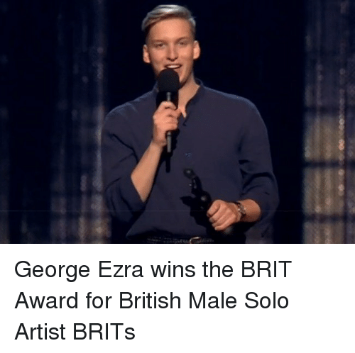 brits: George Ezra wins the BRIT Award for British Male Solo Artist BRITs
