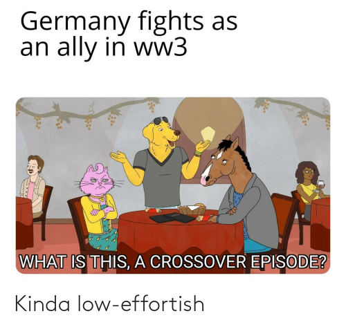 what is this: Germany fights as  an ally in ww3  WHAT IS THIS, A CROSSOVER EPISODE? Kinda low-effortish