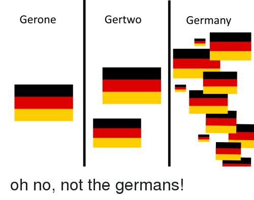 germans: Gerone  Gertwo  Germany oh no, not the germans!