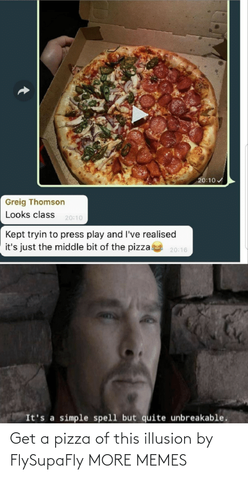 pizza: Get a pizza of this illusion by FlySupaFly MORE MEMES