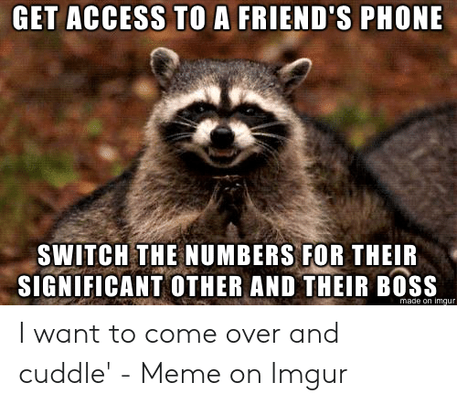 Come Over, Friends, and Meme: GET ACCESS TO A FRIEND'S PHONE  SWITCH THE NUMBERS FOR THEIR  SIGNIFICANT OTHER AND THEIR BOSS  made on imqur