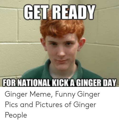 Ginger Pics: GET READY  FOR NATIONAL KICKA GINGER DAY Ginger Meme, Funny Ginger Pics and Pictures of Ginger People