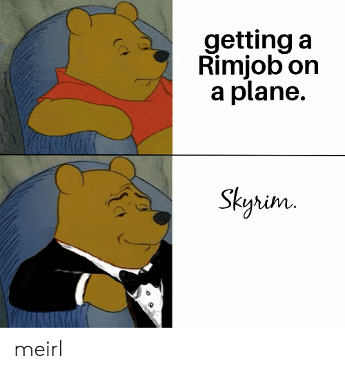 Skyrim: getting a  Rimjob on  a plane.  Skyrim  (CF meirl