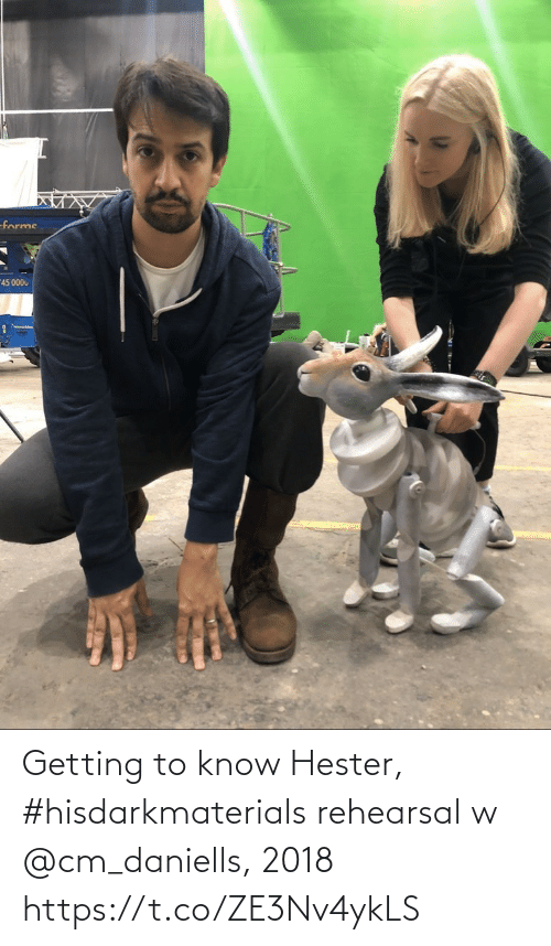 Getting To Know: Getting to know Hester, #hisdarkmaterials rehearsal w @cm_daniells, 2018 https://t.co/ZE3Nv4ykLS