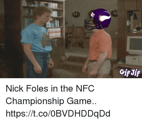 awwmemes.com: GifJif Nick Foles in the NFC Championship Game.. https://t.co/0BVDHDDqDd