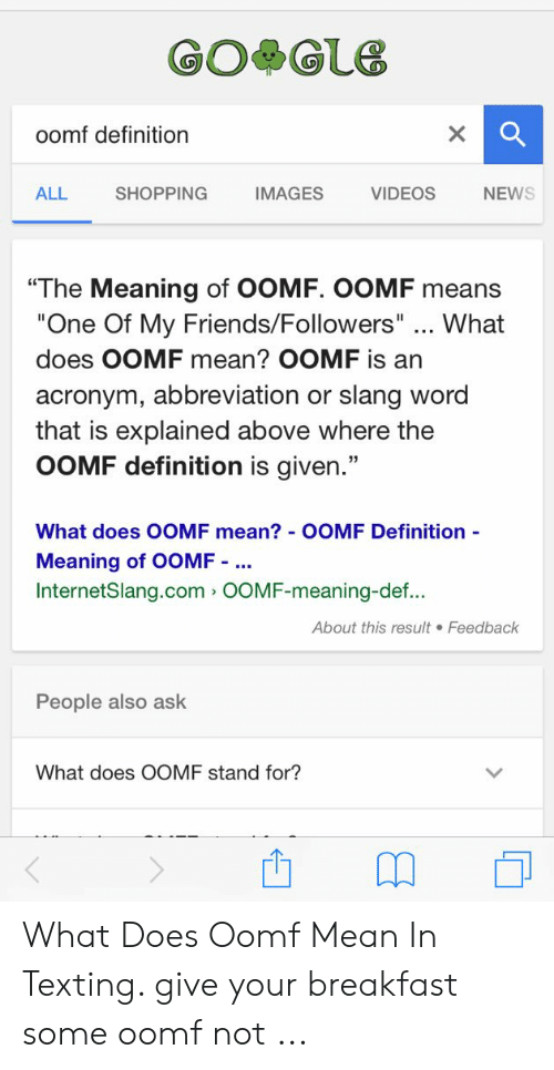 What Does Oomf Mean