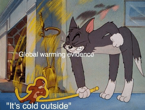 """Global warming: Global warming evidence  """"It's cold outside"""""""