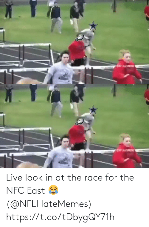 Race: GNFLHATEMEME   ENFHATEMEME Live look in at the race for the NFC East 😂 (@NFLHateMemes) https://t.co/tDbygQY71h