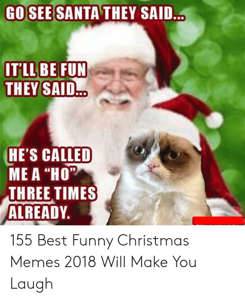 Funny Christmas Memes 2018.Go See Santa They Said It Ll Be Fun They Said He S Called Me