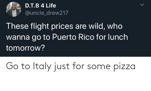 pizza: Go to Italy just for some pizza