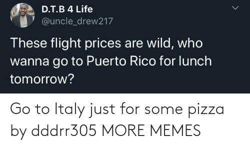 pizza: Go to Italy just for some pizza by dddrr305 MORE MEMES